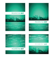 prospectus green blue group vector image vector image
