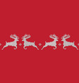 red knitted christmas seamless pattern with deers vector image