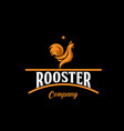 rooster company logo template design vector image