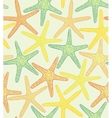 seamless colored background with starfishes vector image