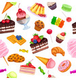 seamless pattern with confectionery vector image vector image