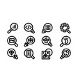 search icon template set sign design vector image vector image