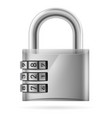 Security concept with locked combination pad lock vector image