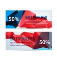 set colorful gift faceted vouchers vector image