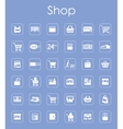 Set of shop simple icons vector image vector image