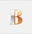 silver and gold font symbol alphabet letter b vector image