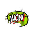 sticker bubble with text short message in color vector image vector image