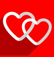 stock with heart motif heart shape vector image