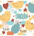 The cute little chicken seamless pattern vector image vector image