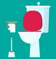toilet flat vector image vector image