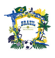 traditional Brazilian items vector image vector image