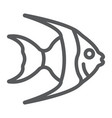 tropical fish line icon animal and underwater vector image vector image