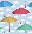 umbrella seamless pattern cloudy sky season vector image