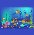 underwater background for vector image vector image