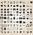web design icons set vector image vector image