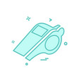 whistle icon design vector image