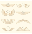wings template linear style vector image