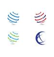 world logo templat vector image