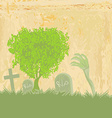 zombie hand coming out of his grave vector image vector image