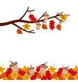 autumn tree branch leaves season floral design vector image