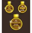 Golden vintage sticker vector image