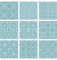 2 color tile pattern moroccan ornament set vector image
