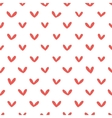 Abstract hand drawn hearts seamless pattern vector image vector image