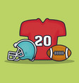american football equipment vector image