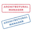 architectural manager textile stamps vector image vector image