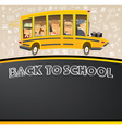 Back to School on Black Chalk Board vector image vector image