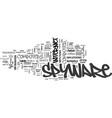 basic spyware defense mechanisms text word cloud vector image vector image