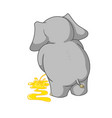 cartoon characters of elephants urinating vector image