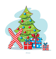 Cartoons Alphabet - Letter X with Xmas gifts vector image