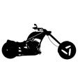Chopper motorbike vector image vector image