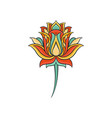 colorful indian ornament ethnic decorative vector image