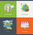 concept online shopping vector image vector image