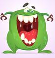 Cute cartoon Halloween monster vector image