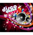 disco colorful flyer background vector image