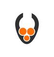 dots letter v logocreative logo design letter v vector image