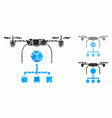drone distribution mosaic icon trembly pieces vector image vector image