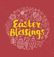 easter poster card banner brushpen vector image vector image