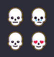 emoji with skulls vector image