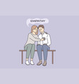 empathy and compassion understanding concept vector image vector image