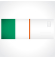 Envelope with Irish flag card vector image vector image