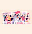 female demonstration protest women freedom vector image vector image