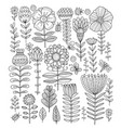 floral meadow sketch for your design vector image vector image