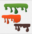 fluidity of paint color dripping vector image vector image
