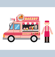 food truck bakery vector image vector image