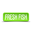fresh fish green 3d realistic square isolated vector image vector image