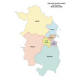 greater dublin area administrative map vector image